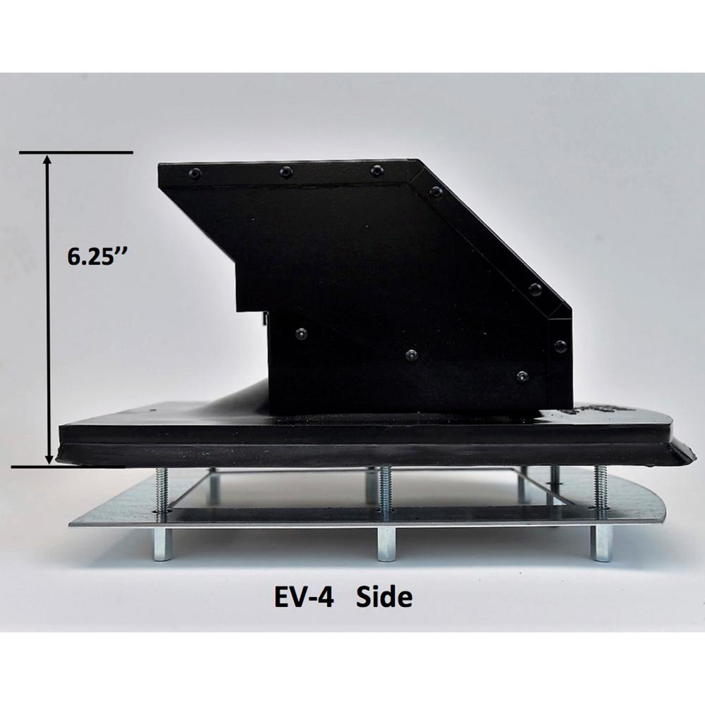 4 In. Steel Roof Exhaust Hood Roof Angle Tedious Prep Work Weather-Tight