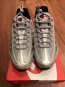 free shipping dcc1d c760a Image is loading Nike-Air-Max-95-Premium-QS-Silver-Bullet-
