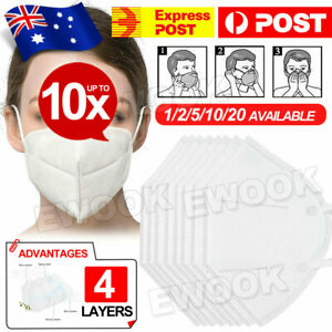 Unisex Face Mask Mouth Cotton Masks Reusable IN AU STOCK