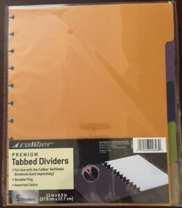 Premium-Poly-TABBED-Dividers-5-Color-For-Caliber-Discbound-Notebooks-or-Punch
