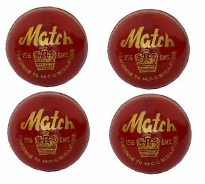 4-X-CW-034-MATCH-RED-034-HIGH-Quality-4-Piece-Cricket-Ball-156-g-A-Grade