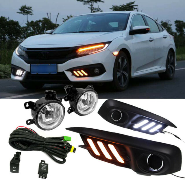 Led Drl Kit For Honda Civic 2016 2017 Fog Lamp Wiring