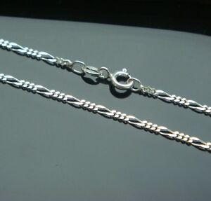 Figaro Kette Echtem 925 Er Silber 1,9 Mm 55 Cm Silberkette Uhren & Schmuck