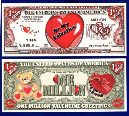 MONEY-R 10 BE MY VALENTINE Dollar Bills SWEETHEART NOVELTY Collectible-