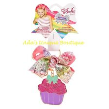 JoJo Siwa Rainbow Sequin Birthday Keychain Hair Bow Key Ring Clip Key Chain