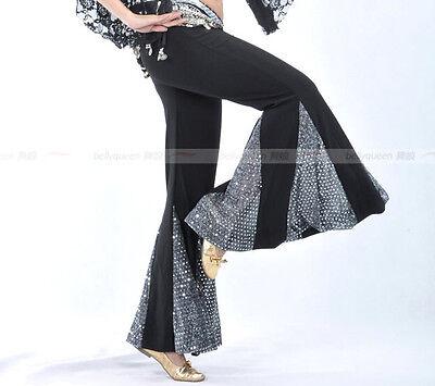 Hot Belly Dance Costumes Sequins Fishtail Practice Pants Yoga Pants
