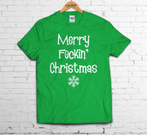 MERRY fecking noël t-shirt drôle cadeau mme brown style fashion dope