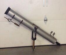 "Antique Vintage Large Brass/Aluminum Astronomical 5"" Refractor Telescope w/Mount"