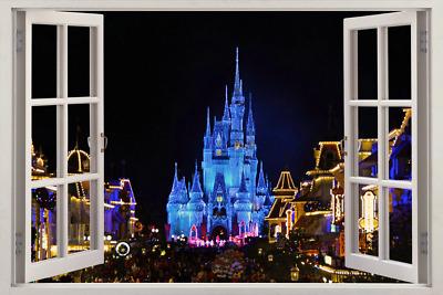 Disney Castle 3D Window Decal Wall Sticker Home Decor Art Mural Kids J166