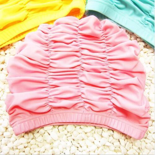 Kid Children Girl Elastic Swimming Pool Hat Beach Head Swim Cap Durable LC