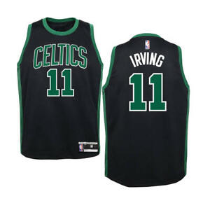new concept 142c3 3a7c7 KIDS Sizes 4-7 KYRIE IRVING Boston Celtics Black Basketball ...