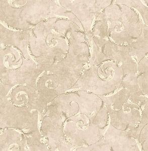 Tapete Designtapete Antik Marmor Ranken Naturtone Rose Glanz