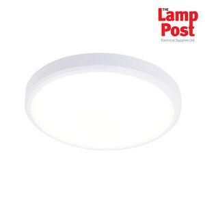 Saxby 70448 cobra xs 300mm round flush ip44 15w led bathroom light image is loading saxby 70448 cobra xs 300mm round flush ip44 aloadofball Images
