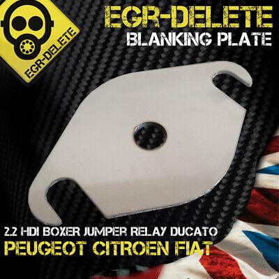 CITROEN RELAY PEUGEOT BOXER FIAT DUCATO EASY FIT EGR BLANKING PLATE 3MM STEEL NS