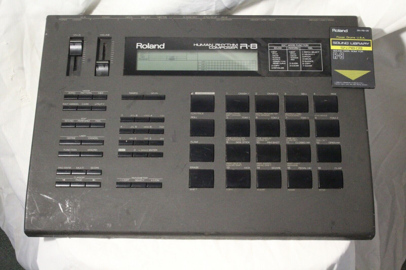 Roland R 8 & SN-R8-09 Power Drums USA