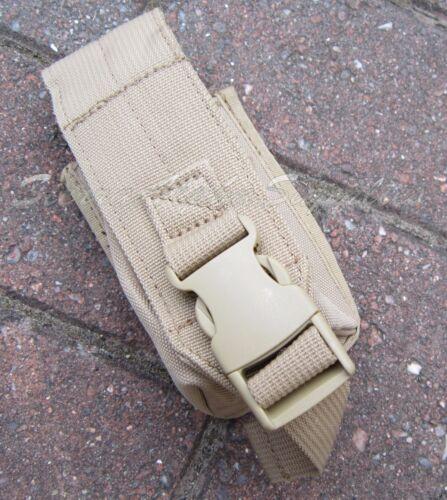 Armée Britannique Surplus Tan Smoke Grenade Pouch Solo international Cordura Nylon
