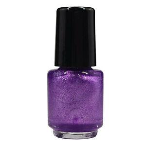 4,5 ml Stampinglack Lila Glitter, hochdeckender Stamping Nagellack für Nails