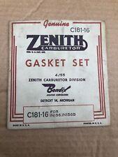 ZENITH VINTAGE  63 SERIES SIZE 11 /& 12 New C181-307 CARBURETOR GASKET SET