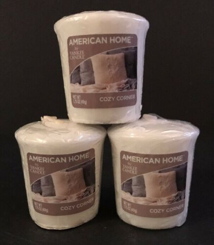 Lot Of 3 Yankee Candle American Home COZY CORNER VOTIVES Free Shipping