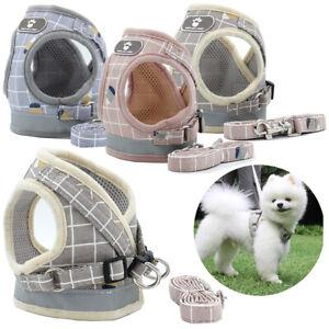 Mesh-Reflective-Pet-Dog-Harness-Leash-Set-Soft-XS-XL-Puppy-Cat-Vest-Harness
