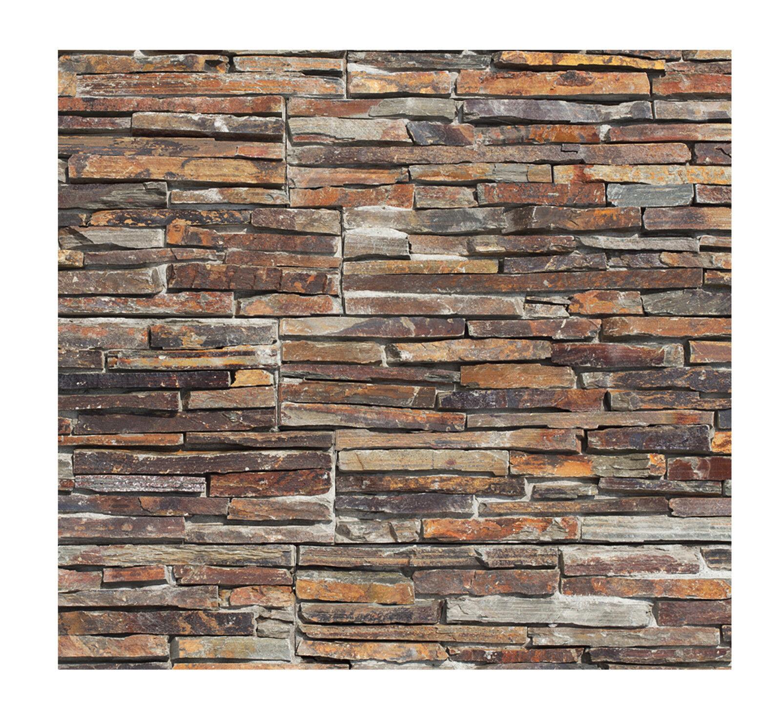 1 qm - W-004 - Naturstein-Wand - Fliesen Lager Stein-mosaik Herne - Wanddesign -