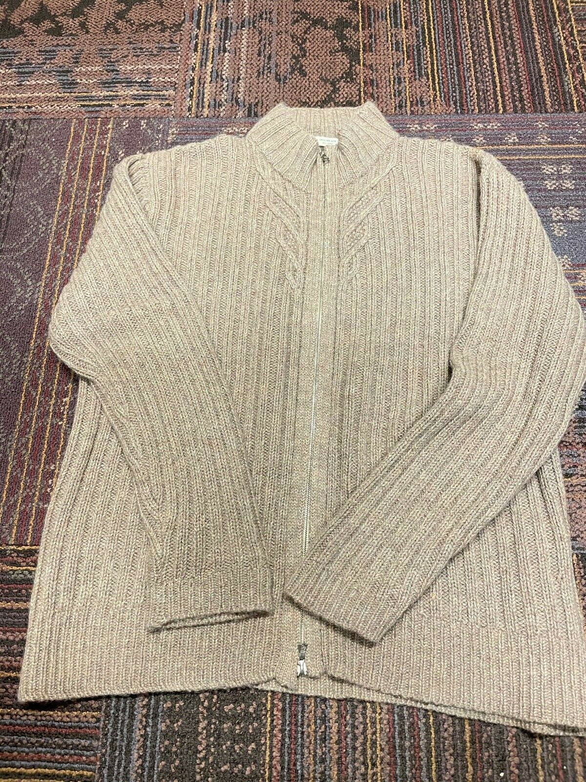 Women's Inis Meain cable knit sweater XL cashmere… - image 3