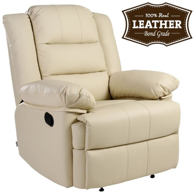 Leather Gaming Sofa: Leather Recliner Armchair Sofa Home Lounge Chair Reclining