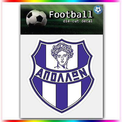 "Apollon Smyrnis UEFA Die Cut Vinyl Sticker Car Bumper Window 4""x3.6"""