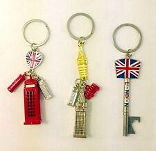 BRITISH KEYRINGS, LONDON ENGLAND SOUVENIRS UNION JACK KEYCHAINS x 3