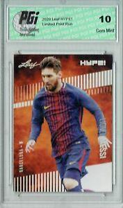 Lionel Messi 2020 Leaf HYPE! #46 Only 5000 Made Barcelona Card PGI 10