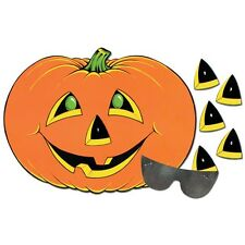 PIN THE NOSE ON THE PUMPKIN PARTY GAME DONKEY TAIL kids fun Halloween activity
