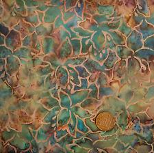 Princesa Mirah Bali Batik Mf1 Dusty Jade 246 Marrón Y Verde 100% Algodón cuarto gordo