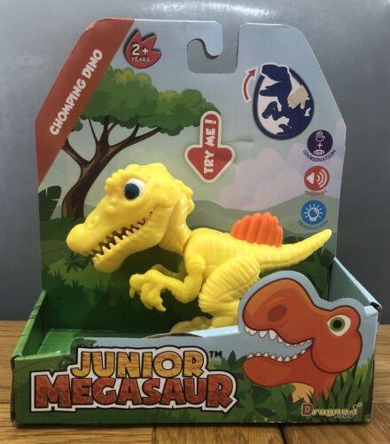 GIALLO SPINOSAURUS lo Snap della mascella JUNIOR Megasaur Chomping Dino Dinosauro giocattolo Age2