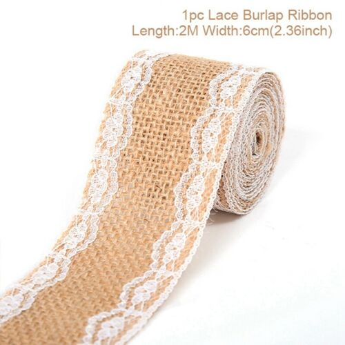 5M Trims Tape Rustic Wedding Party Jute Burlap Hessian Ribbon Banner DIY Flower