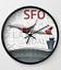 Virgin America Airbus A321 over SFO Wall Clock