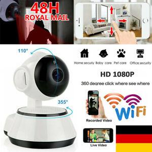 Wifi IP Kamera 1080P HD Überwachungskamera Wlan Netzwerk Baby Camera Nachtsicht
