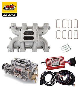 LS1 Carb Intake Kit - Edelbrock RPM Intake/MSD 6014 Ignition