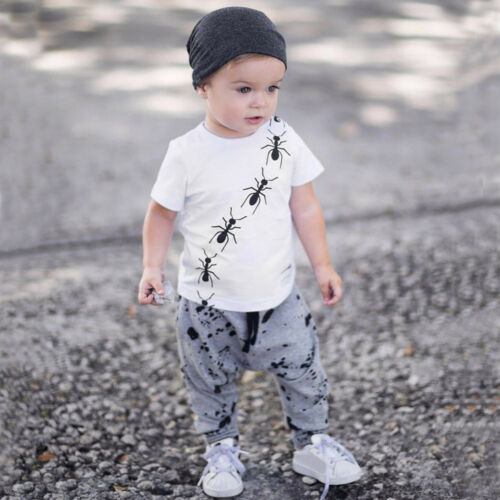 Dot Pants Outfits Toddler Baby Boy Cool Casual Short Sleeve Print Tops T-Shirt