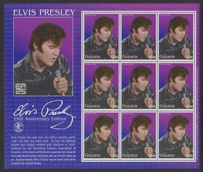 Mnh Death Ann Von Elvis Presley Kleinbogen Sg Ms6335 2002 Pflichtbewusst Guyana