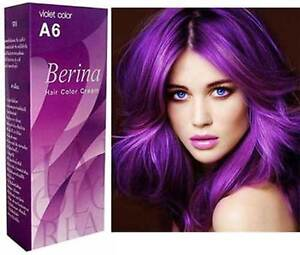 2x lila purple violet haar f rben haare f rben permanent haarfarbe berina a6 ebay. Black Bedroom Furniture Sets. Home Design Ideas