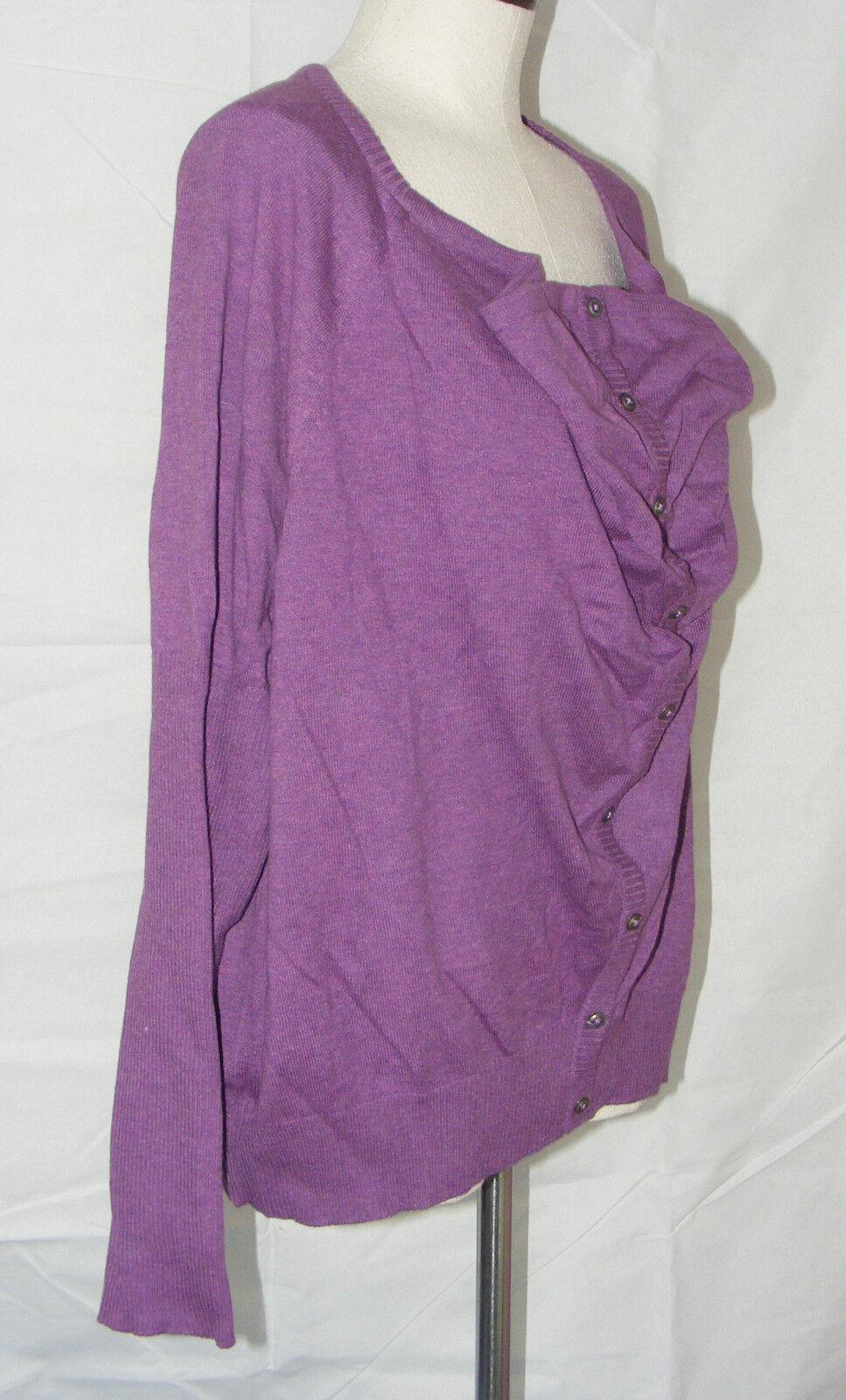 Eileen Fisher NEW Größe 1x lila Cowl Neck Cardigan Organic Fair Trade Cotton