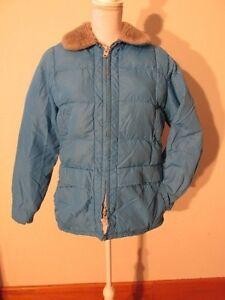 Down Blue Fuld 1970s Tempco xl S7204 Jacket Isoleret Vintage Zip L Ski Women's HTqzFw