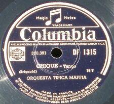 10'' RPM 78 / 78 trs  Orquestas Tipica Maffia & Criolla argentina Tangos NM -