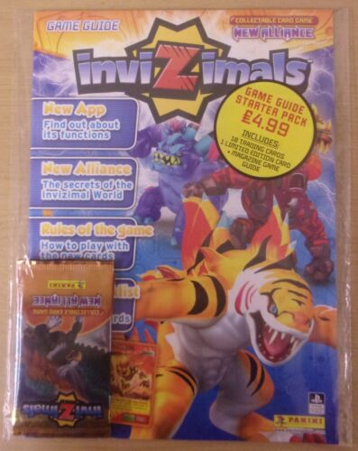 Invizimals New Alliance ~ Panini Trading Card ~ Game Guide Starter pack