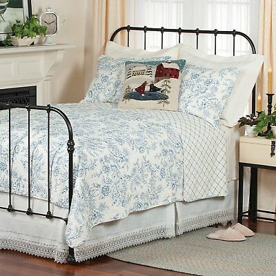 Clementina Blue Twin Quilt White French Toile Williamsburg Comforter 8246088325 Ebay