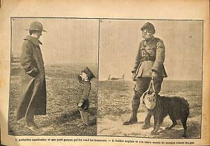 Aviatrice-US-Air-Force-Soldiers-British-Army-Dog-Chien-WWI-1917-ILLUSTRATION