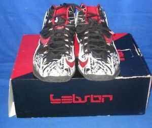 Nike 616175-100 Lebron 11 Graffiti Black Red White Men Basketball ... 0a1c39a5adee