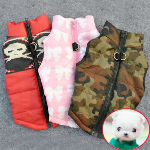 WINTER WARM PET DOG CLOTHES VEST HARNESS PUPPY COAT JACKET APPAREL LARGE PLUS