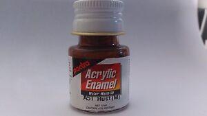 Pactra-Paint-A51-Rust-Matt-Acrylic-Enamel-Water-WashUp-net-10ml-Bottle-PL