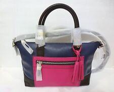 NWT COACH Legacy Leather Molly Satchel Bag 21134 ColorBlock Navy Fushsia $398